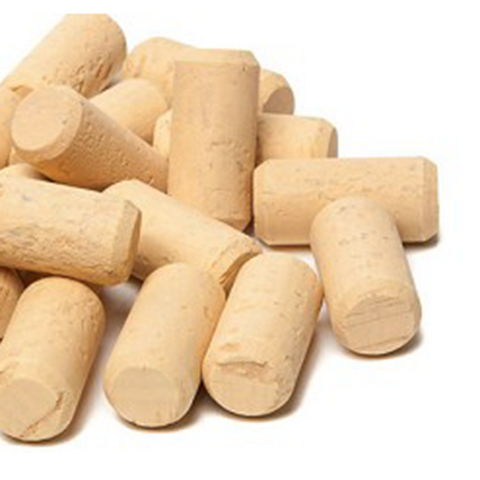 "#7 x 1 3/4"" First Quality Straight Wine Corks - 30 per Bag"