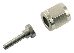 "Adaptor - 5/32"" Barb with 1/4"" FFL swivel nut for threaded disconnect fittings"