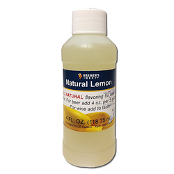Flavoring, Natural - Lemon - 4 oz