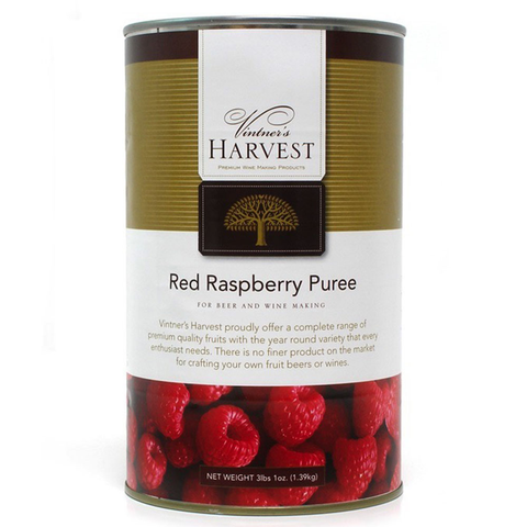 Vintner's Harvest Red Raspberry  Puree - 49 Oz Can