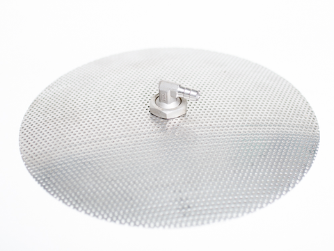 Stainless Steel Domed False Bottom 10 inch diameter w/elbo