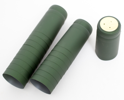 Metallic Solid Green PVC Shrink Capsules 30/bag