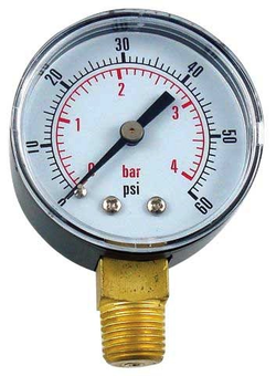 "2"" Replacement Gauge for Regulator - Right Hand Thread 0-60 PSI"
