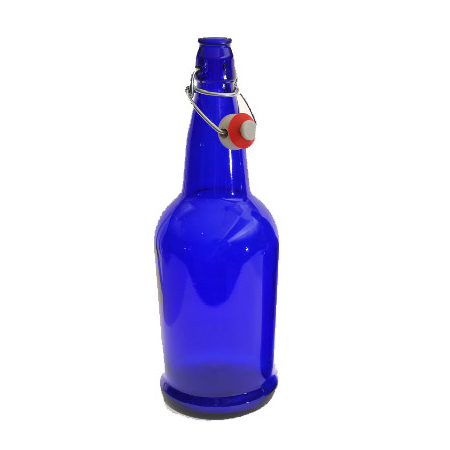 EZ Cap Bottles 500mL (16.9oz) Blue - 12/Case