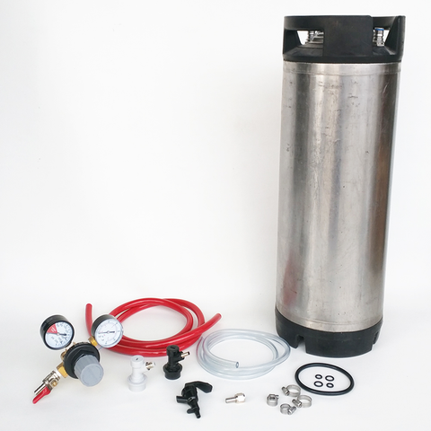 Used Ball Lock Keg Kit - The Essentials in order to pour beer from your keg at home!