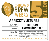 CBW Apricot Vultures (BELGIAN FARMHOUSE ALE) - 5 Gallon Extract Ingredient Kit