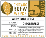 CBW Werktoberfest - 5 Gallon All Grain Ingredient Kit