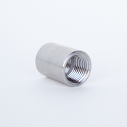 "Stainless Steel Threaded Coupler - 1/2"" NPT"