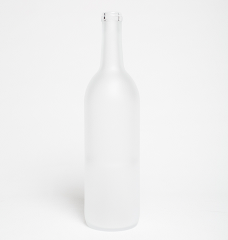 750ml Bordeaux Frosted Wine Bottles - 12/Case