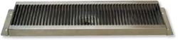 "Counter Mount Stainless Steel Drip Tray - 16"" x 5.125"" - 1"" Drain Depth and 1/2"" MPT Threaded Brass Drain Tube"