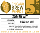 CBW Zomer Wit (BELGIAN WITBIER) - 5 Gallon Extract Ingredient Kit
