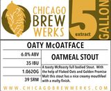 CBW Oaty McOatface (Oatmeal Stout) - 5 Gallon Extract Ingredient Kit