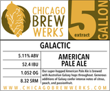 CBW Galactic (AMERICAN PALE ALE) - 5 Gallon Extract Ingredient Kit