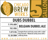 CBW Dubs Dubbel - 5 Gallon Extract Ingredient Kit