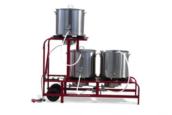 The MEGA Ruby Complete - Complete 20 Gallon System (30 Gallon Kettles) - Electric