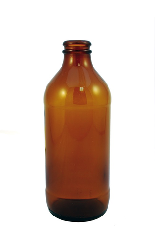 12oz Amber Grenade Beer Bottles (24/case) - Crown Finish