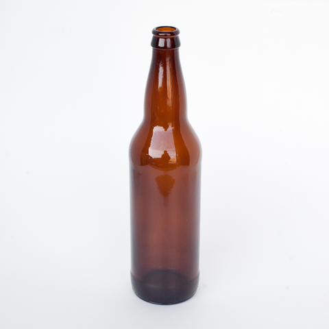 22 oz. Beer Bottles - Amber (12/Case)