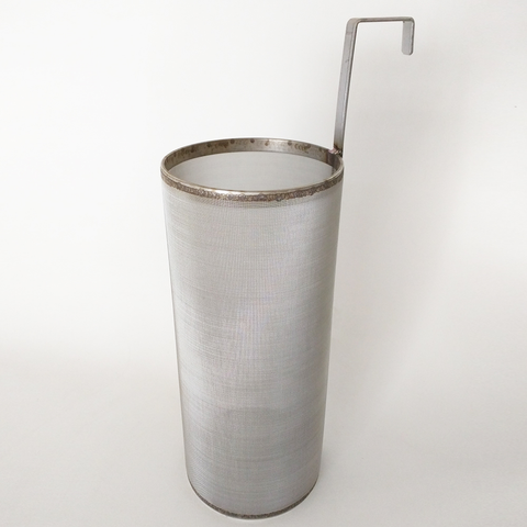 6″ x 14″ Brew Filter 300 Micron Stainless Steel Mesh For Keggles Outside Hook