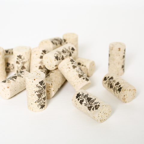 "#9 x 1 3/4"" Premium Quality Straight Wine Corks - 30 per Bag"