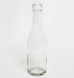 187 mL Clear Champagne Bottles Cork or Crown Finish 24/Case