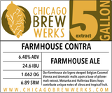 CBW Farmhouse Contra (FARMHOUSE ALE) - 5 Gallon Extract Ingredient Kit