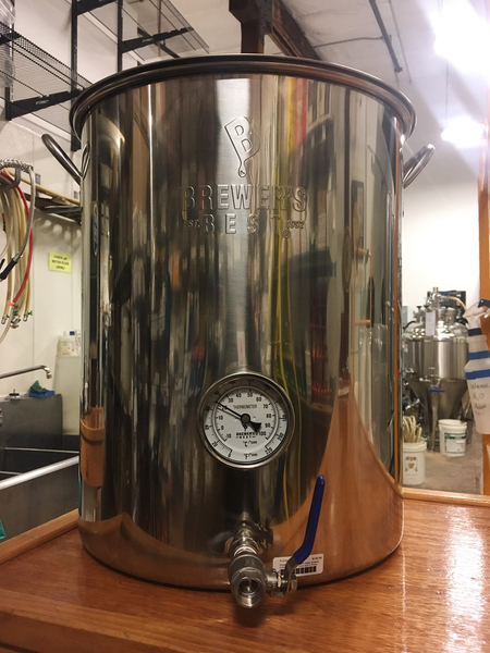 "16 Gallon Brewer's Best Basic Brewing Kettle w/ 316 Ball Valve and 4"" Probe Thermometer"