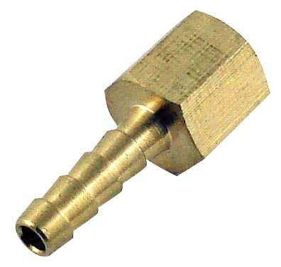 "Brass Hose Stem - 3/8"" Barbed X 1/4"" FPT"