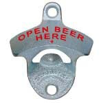 "Stationary Bottle Opener - ""OPEN BEER HERE"""