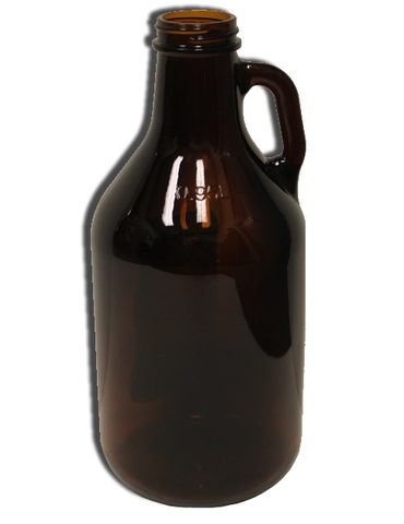 Glass Jug - Amber 1/4 Gallon Glass Growler with Handle (1/each)