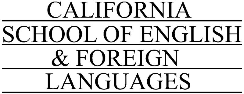 Calif. School of English & Foreign Languages