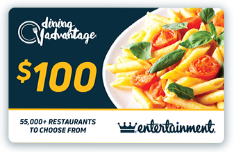 $100 Dining Advantage Card