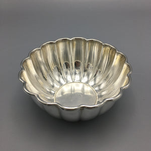 Tiffany & Co. Mid Century Italian Fluted Sterling Silver Bowl