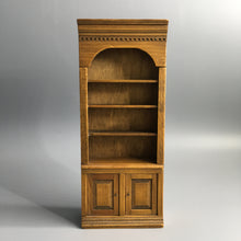 Diminutive c 1960s Hand Made Miniature Wooden Edwardian Empire Bookcase