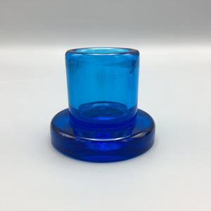 Salviati & Co. c. 1960 Cobalt Blue Murano Glass Candle Holder Set