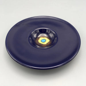 Bjorn Wiinblad Terra-Cotta Vide Poche Bowl with Cobalt Blue Glaze