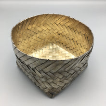 Taxco Mexico c. 1950 Silver Large Handwoven TANE era Chiquihuite Orchid Basket