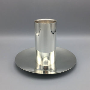 Sterling Silver Alfredo Ortega & Sons Art Deco Pillar Candle Holder (2 available)