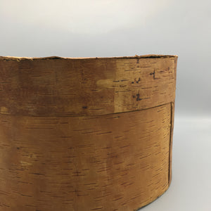 Oversized Primitive 20th Century North American Wooden Birch Bark Box
