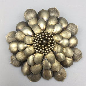 Janna Thomas Large Sterling Silver Realism Flower Brooch
