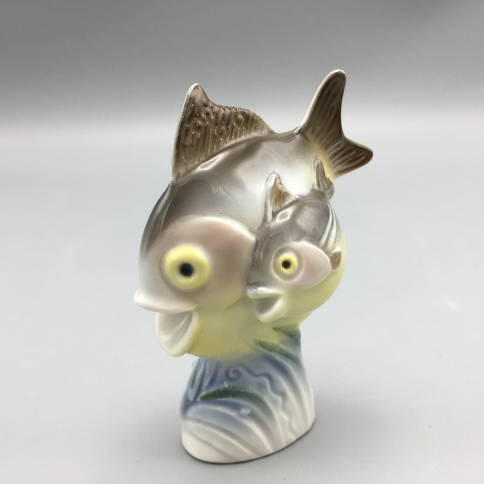 Art Deco Porcelain Fish Figure by Willi Münch-Khe for Rosenthal Selb