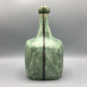 Bruno Gambone Green Ceramic Studio Decanter Pitcher with Stopper