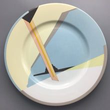 Francisco Javier Bellosillo for Swid Powell c. 1985 Postmodern 'Figure' Porcelain Buffet Plate
