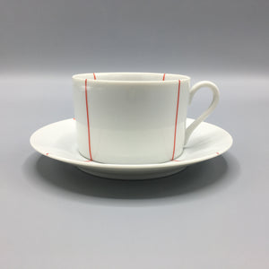 Set (8pc) Richard Meier for Swid Powell Minimalist Signature Red Cup & Saucer
