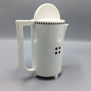 Gwathmey Siegel for Swid Powell c. 1984 Postmodern 'Tuxedo' Coffee Service Set