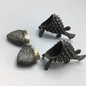 Janna Thomas de Velarde Sterling Silver Fish Salt & Pepper Shakers