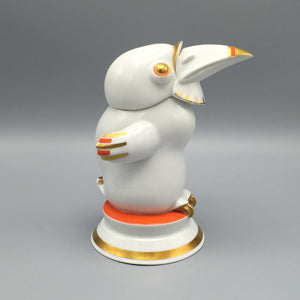 Antique 1920s Hans Küster Grotesque Art Deco Rosenthal Porcelain Bird Figure