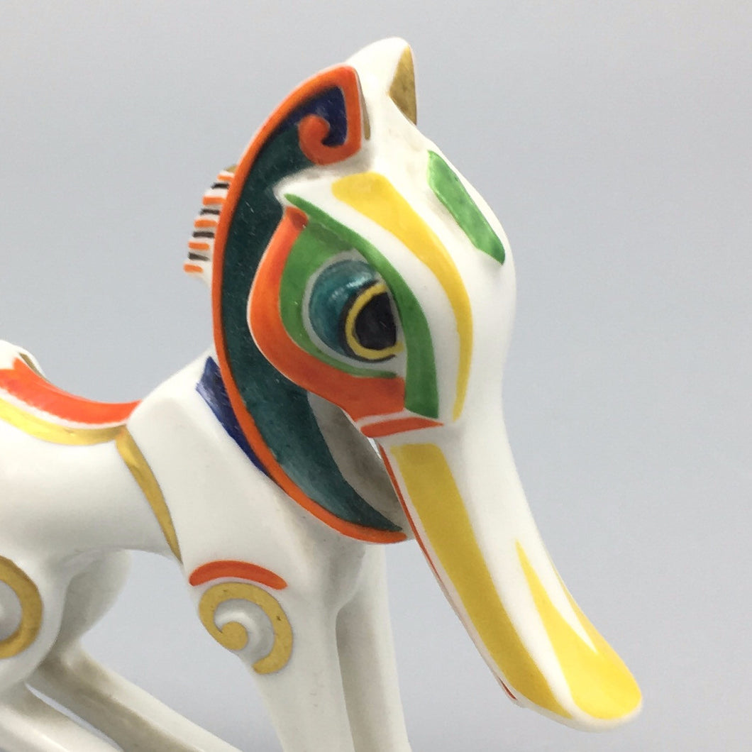 Antique 1920s Jazz Age Hand Painted Hans Kuster 'Bucephalus' Fantasy Horse Model