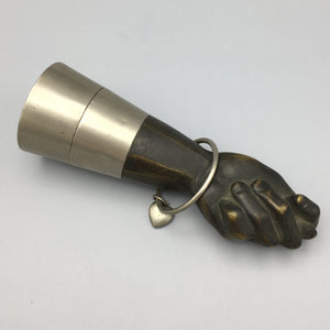 Large 1950s Austrian Bronze Mano Fico Lighter for Saks Fifth Avenue