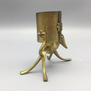 Hagenauer Art Deco Bronze Dog Fantasy Creature Matchstick Holder