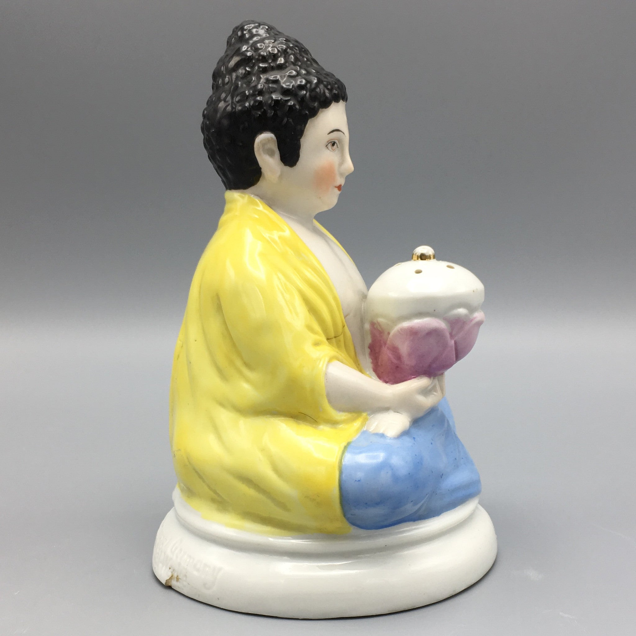 Art Deco 1930s Rosenthal Buddha Figure With Lotus Flower Whistle